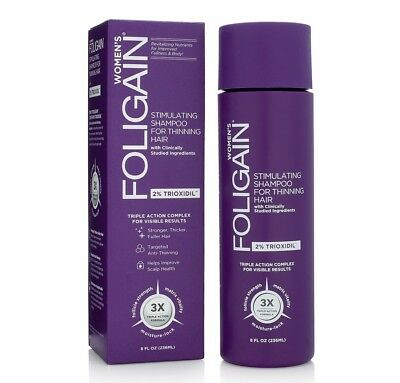 FOLIGAIN Stimulating Shampoo For Thinning Hair For Women with 2% Trioxidil (8oz)