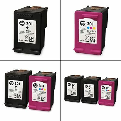 Genuine HP 301 Black & Colour Ink Cartridges - Original HP Inks