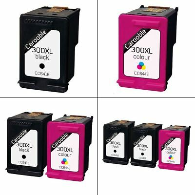 HP 300XL Black & Colour Ink Cartridges - Remanufactured for use with HP Printers