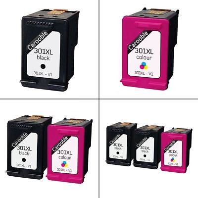HP 301XL Black & Colour Ink Cartridges - Remanufactured for use with HP Printers