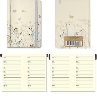Pocket Size Butterflies Print Personal Address Book 600-Contact Storage 160Pages