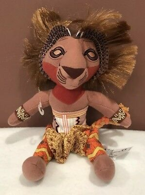 """The Lion King The Broadway Musical Simba Soft Plush Toy 10"""" Tall"""
