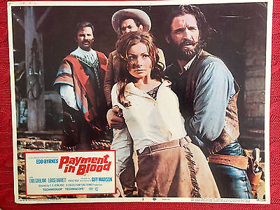 Payment In Blood 1968 western lobby card made in Italy