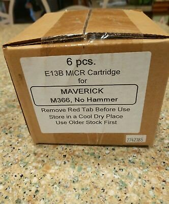 NEW (6 PCS) E13B MAVERICK MICR STANDARD REGISTER TE1800/1900 NEW M366, NO Hammer