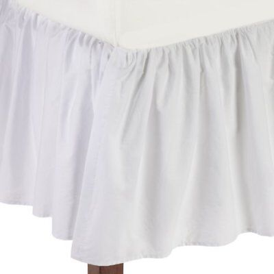 American Baby Company 100% Cotton Percale Ruffled Crib Skirt White