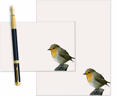 Cute Robin Letter Writing Paper and Envelopes Stationary Set, Gift Set