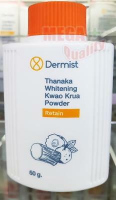 Dermist Thanaka Whitening Kwao Krua Body Powder Talc Anti-Oxidant Btrighten 50g.