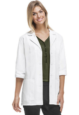 "Lab Coat Women's 30"" 3/4 Sleeve Lab Coat in White 2XL NWT"