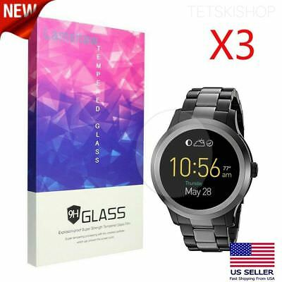 3 Pack Tempered Glass Screen Protector 9H Hardness for Fossil Q Founder Gen 2