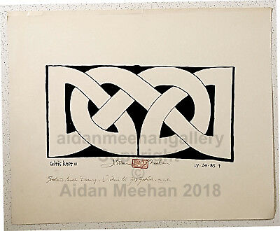 "Aidan Meehan ORIGINAL Irish Celtic Knot Art Brush and Ink ""Victoria Knot"""