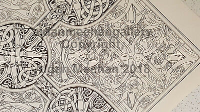 "Aidan Meehan ORIGINAL Irish Celtic Art Black-and-White Print ""Chad"""