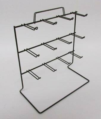 For Sale Counter Peg Hook Key Chain Display Rack - 3 Tier 12 OSHA Loop (White)