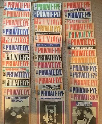 Private Eye Magazines Over 100 From 1985 - 2007