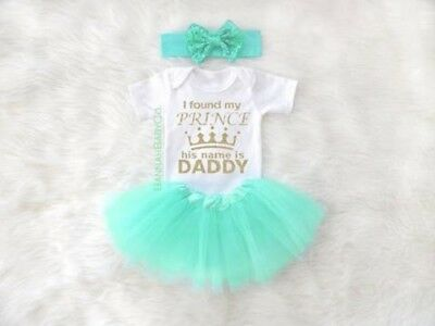 Baby Girl Clothes Daddy Daddys Princess Daddys Little Girl Outfit