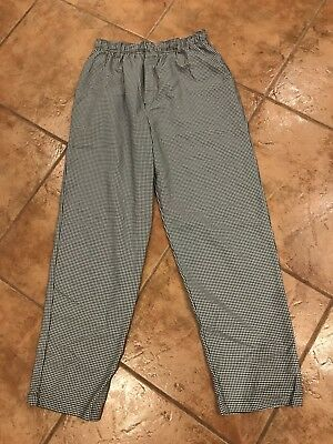 Mercer Culinary Pants Men's Size L Houndstooth NWOT NEW Chef Pants