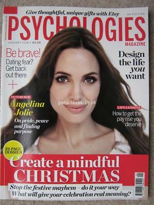 Psychologies magazine January 2018 Angelina Jolie Get a Pay Rise Dating