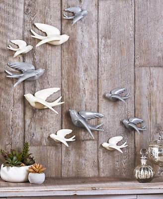 Ceramic Wall Bird Hanging Swallow Set Choose Color Number Size Art Home Decor