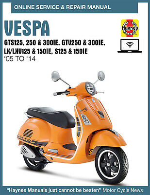 Vespa GTV 250 ie 2008 Haynes Service Repair Manual 4898