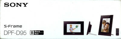 """SONY DPF-D95 9"""" DIGITAL PHOTO FRAME s-frame INCLUDES EVERYTHING black"""