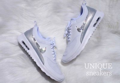CRYSTAL NIKE AIR Max 90 SE Gr. 38 Glitzer mit Swarovski Elements grau grey