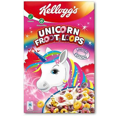 Rare Kellogg's Unicorn Cereal Limited Edition NOT Bearing The Froot Loops Name