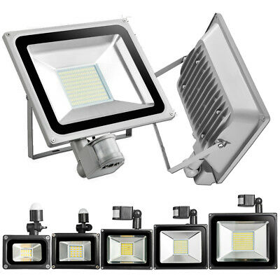 PIR Motion Sensor Outdoor LED Flood Lights 100W 50W 30W 20W 10Watts Fixtures US