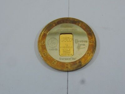 1g KARATBARS COINS 999.9 PURE 24K BULLION BAR WITH NICKEL-SILVER AND BRASS RING