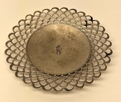 Stefani Signed Silver Candy Dish Monogram DA or AD Sterling? 45g