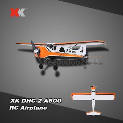 Original XK DHC-2 A600 5CH 2.4G Brushless Motor 3D6G RC Airplane O0P3