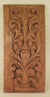 Old Antique Carved Wood Panel Oak? Salvage, Fragment, Shabby Chic