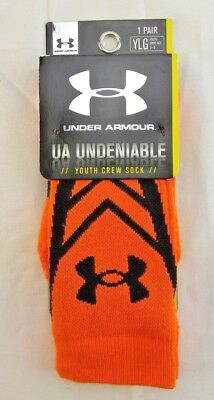 Under Armour, UA Undeniable, Crew Socks, Youth Size 1-4 (1 Pair) NWT *New*
