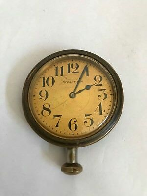 Vintage 1920's Waltham Car Clock Pocket Watch - Running - Recently Serviced