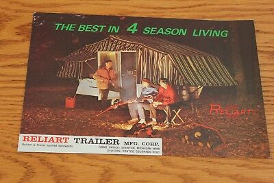 Vintage Brochure for Reliart Camping Trailers, 1965