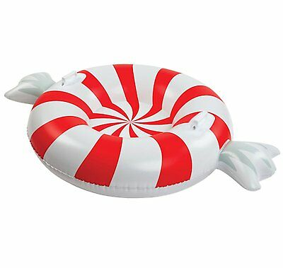 Big Mouth Peppermint Twist Snow Tube Ride On Over 4 Feet Wide Ages 8+