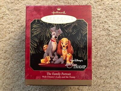 "1999 Lady and the Tramp ""The Family Portrait"" Disney Ornament Hallmark Keepsake"