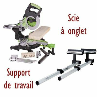 EVOLUTION Scie a onglet radiale FURY3XL & Support