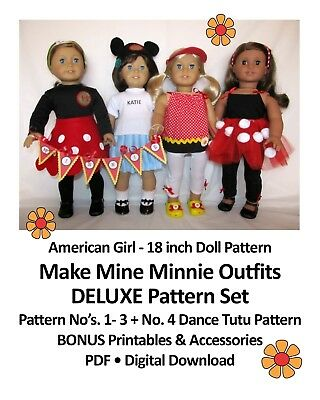 18 american girl doll clothes pattern_make mine minnie collection_cd or free