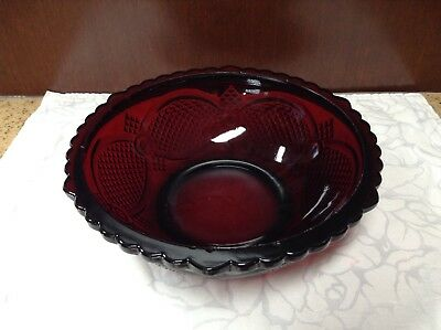 Avon Ruby Red Large Bowl Serving Collectibles Glass Decorative