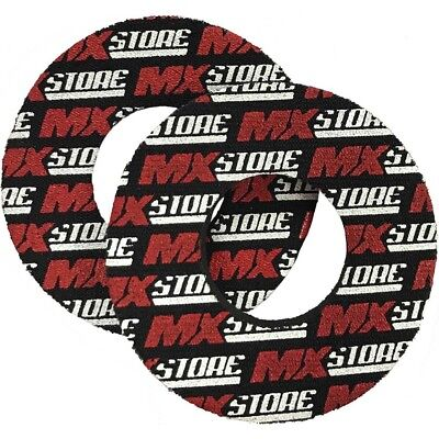 MXStore NEW Mx Genuine Logo Black Red Motocross Motorbike Dirt Bike Grip Donuts