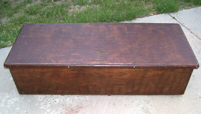 Vintage Unusual Size Wooden Trunk Blanket Chest - Coffee Table, Storage