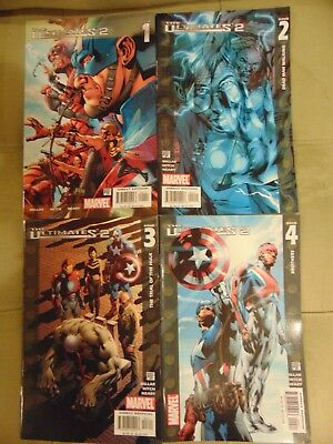 Marvel Comic Books, The Ultimates 2  -Issues #1,2,3,4- Marvel PSR+