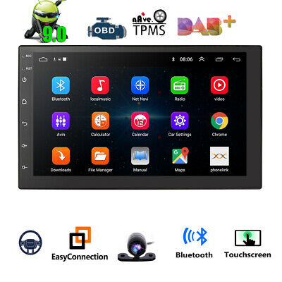 """Android 8.1 7"""" Double 2 DIN Car Radio GPS Player WIFI BT Navi With Backup Camera"""