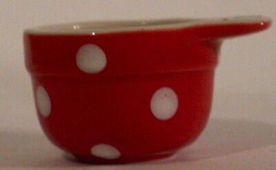 SPODE BAKING Days red Measuring Cup 1/4 cup capacity BRAND NEW ...