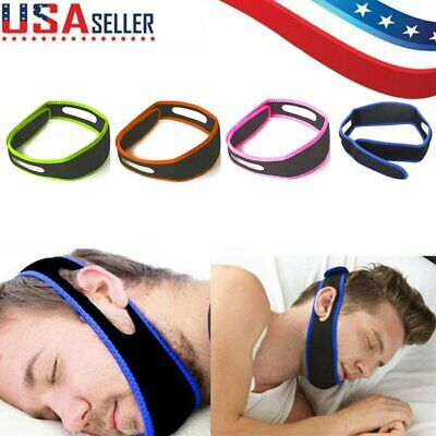 Anti Snore Chin Strap Stop Snoring Sleep Apnea Belt Jaw Support Safety Solution