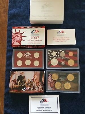 2007 U.S. Mint Complete Silver Proof Set - 14 pc -with CoA in original packaging