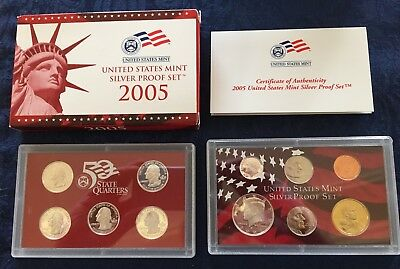 2005 U.S. Mint Complete Silver Proof Set - 11 pc -with CoA in original packaging