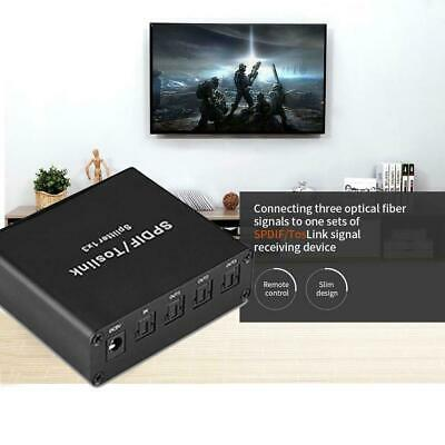 1 In 3 Out SPDIF/TOSLINK Digital Optical Audio Switch Switcher Splitter Box SP