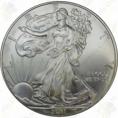 2011 1 oz American Silver Eagle – Brilliant Uncirculated – SKU #1405