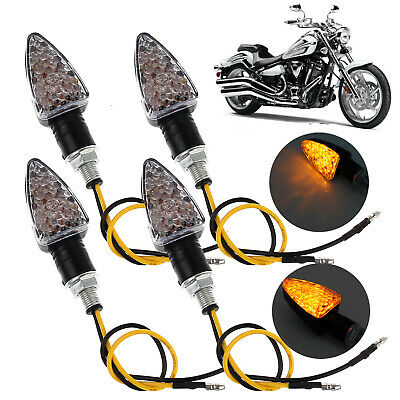 4X 12V 15 LED Waterproof Motorcycle MotorBikes Blinkers Turn Signal Indicators