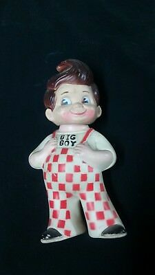 "Bobs Big Boy Burger Advertising 9"" Toy Rubber Still Coin Piggy Bank Vintage 1973"